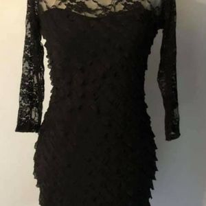 Lace top and sleeve dress